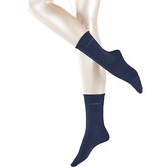 Esprit Basic Pure 2 Pack Socks - Marine Navy