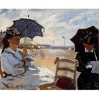 Der Strand von Truouville, Claude Monet, 50x40cm