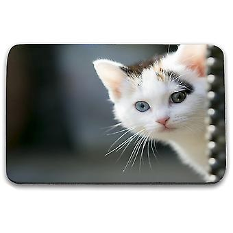 i-Tronixs - Cat Printed Design Non-Slip Rectangular Mouse Mat for Office / Home / Gaming - 19