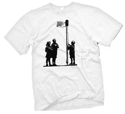 Mens t-shirt-Art Graffiti di Banksy