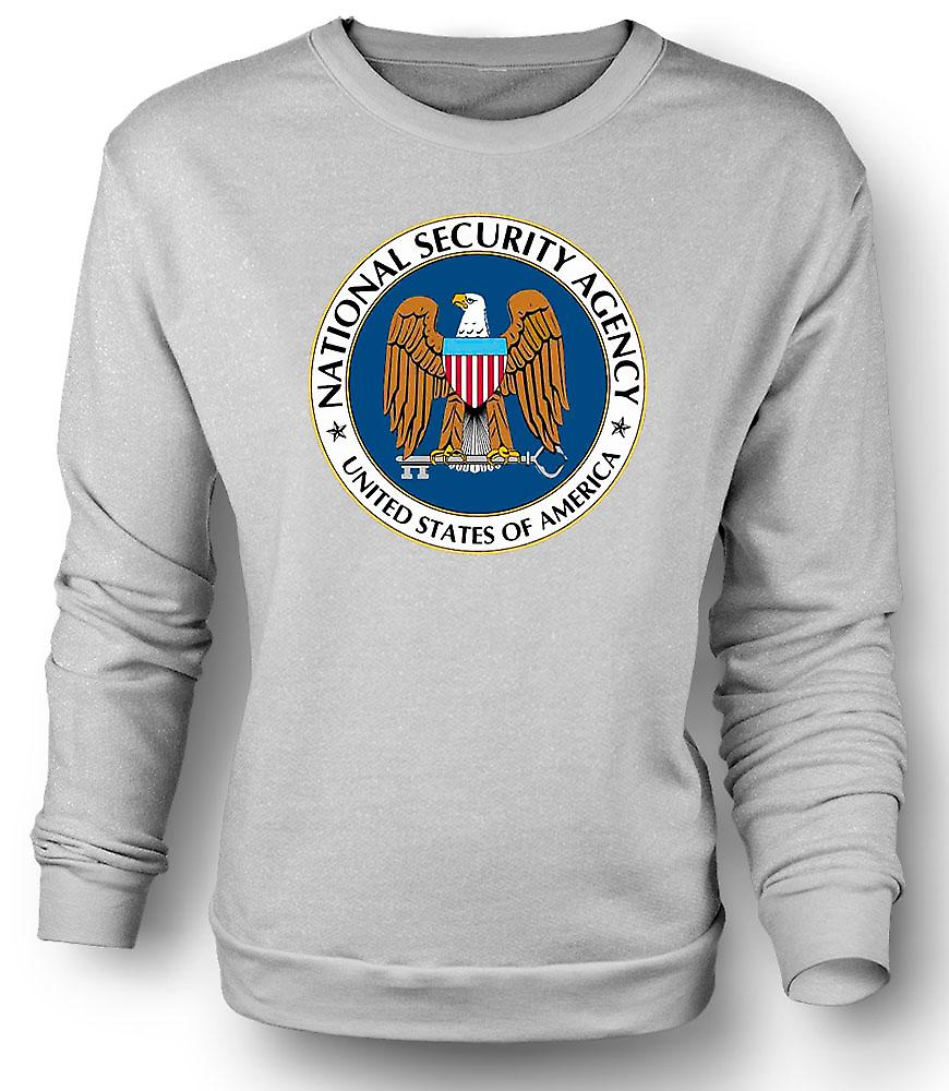 Mens Sweatshirt NSA USA Secret Service - Funny