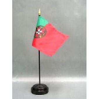 Portugal Tabellflagg med Stick & Base