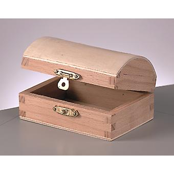 Wood Chest with Clasp to Decorate 9.5x6.5x5.3cm   Pirate Treasure Chests