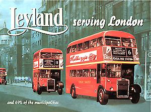 Leyland London Bus Steel Sign
