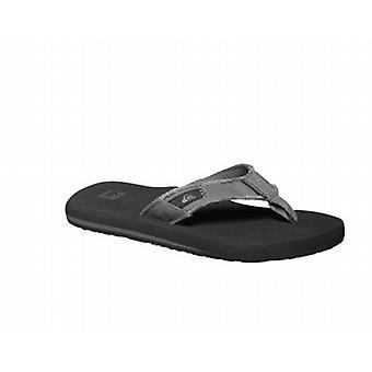 Quiksilver Monkey Abyss Flip Flops - Grey / Black / Brown