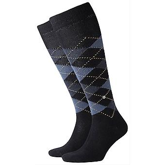 Burlington Preston Knee High Socks - Dark Navy/Blue