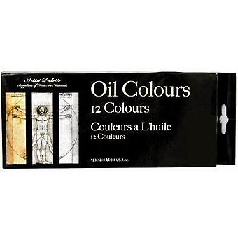 Artist Oil Colours 12 Tubes in Box Art and Craft Assorted Set - (ST0947)