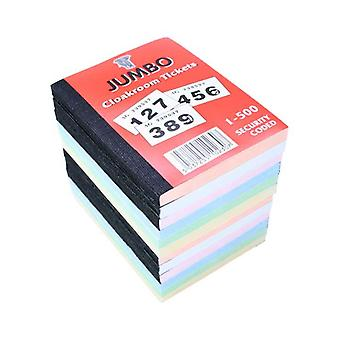 Book of 500 Raffle / Cloakroom Tickets