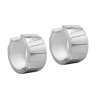 Aro de plata aretes de plata criolla, 18 x 10 mm, brillante, plata 925