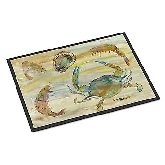 Crab, Shrimp, Oyster Yellow Sky Indoor or Outdoor Mat 24x36