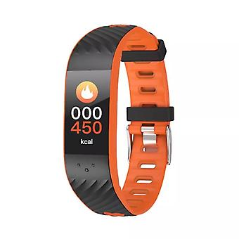 P4 activity bracelet with blood pressure and heart rate monitor-Orange