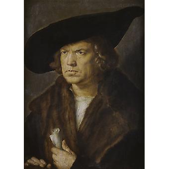 Portrait of a man,Albrecht Durer,50x36cm