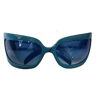 Large Sunglasses With Sprayed Colour Acrylic Lenses (blue)