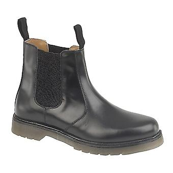 Grafters Mens Smooth Leather Plain Chelsea Boot