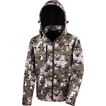 SAS Special Air Service C Sqn - Licensed British Army Embroidered Performance Hooded Camo Softshell Jacket