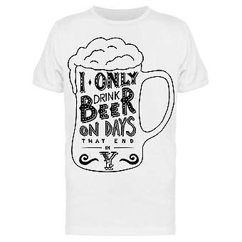 Bier op dagen die eindigen in Y Tee Men ' s-beeld door Shutterstock