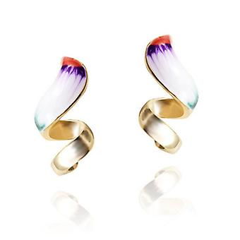 14K Gold Plated Multicolor Fashion Earrings, 2.5cm