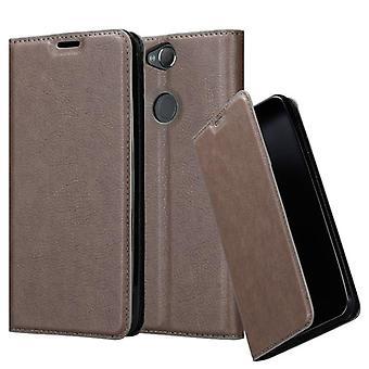 Cadorabo-kotelo Sony Xperia XA2 PLUS-kotelon kotelolle-Puhelin kotelo magneettisella Sulkemilla, stand-toiminnolla ja kortti kotelolla-kotelon suoja kotelo kotelo-tapa uksessa kirja taitto tyyli