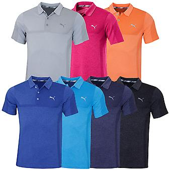 Puma Golf Mens 2019 3D malha disjuntores camisa pólo