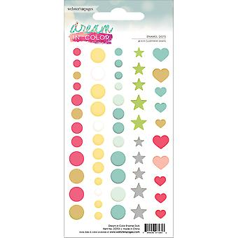 Dream In Color Enamel Dots 56/Pkg- DOT01