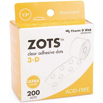 Zots Clear Adhesive Dots 3 D 1 2