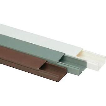 Cable duct (L x W x H) 2000 x 30 x 15 mm Heidemann 09954 1 pc(s) Brown