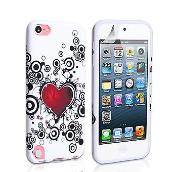 YouSave Accessories iPod Touch 5G Red Heart Gel Case