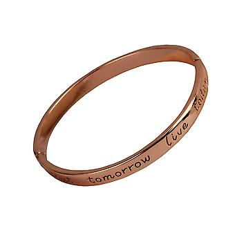 Remember yesterday  live today and dream about tomorrow statement bracelet