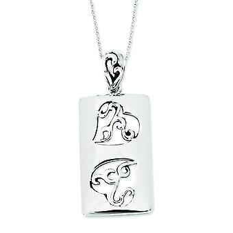 Sterling Silver Antiqued Girlfriends Two 18inch Necklace - 3.0 Grams