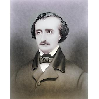 Edgar Allan Poe 1809-1849 scrittore americano dopo un secolo XIX stampa successiva colorazione PosterPrint
