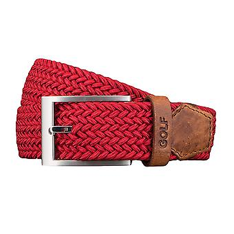 GOLF belts belts men's belts woven belt stretch belt red 3484