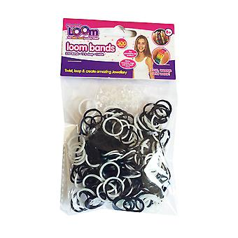 Friendship Loom: Loom Bands Black and White