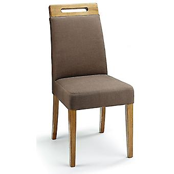 Mosoni Fabric Seat Kitchen Dining Chair Wooden Frame Fully Assembled