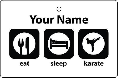 Personalised Eat Sleep Karate Car Air Freshener