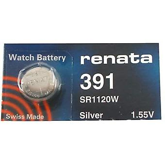 Renata 391 Mercury Free 1.55 Volt Watch Battery Replaces - Pack of 10 (SR1120W)