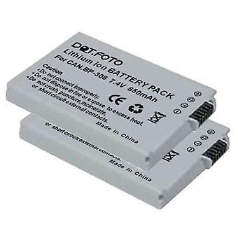 2 x bateria BP-308 zamiennik Dot.Foto Canon - 7.4 Volt / 850mAh