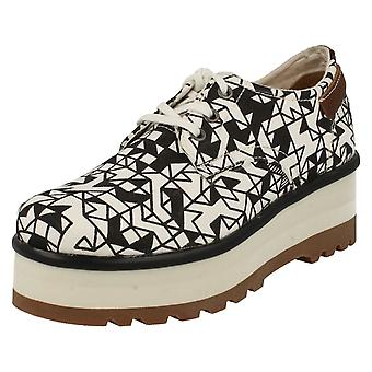 Ladies CAT Lace Up Platform Casual Shoes Restless Walala