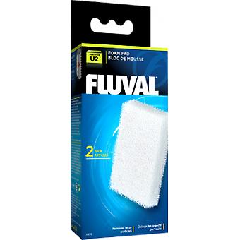 Fluval FLUVAL U2 FOAMEX (2pc) (Fish , Filters & Water Pumps , Filter Sponge/Foam)