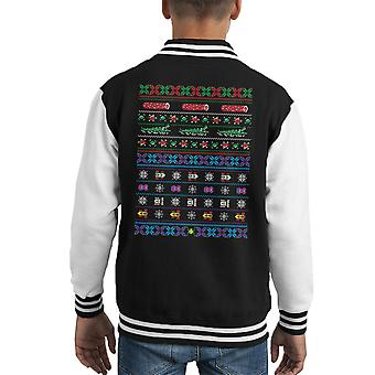 Frösche-Protokolle und Automobile Frogger Weihnachten Stricken Muster Kid Varsity Jacket
