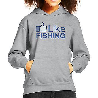 Som fiske Facebook barneklubb Hettegenser
