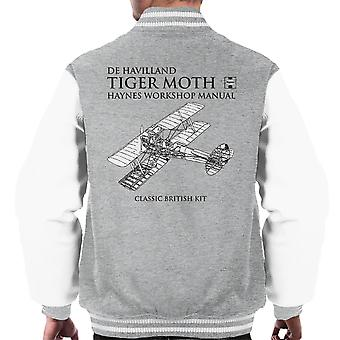Haynes Owners Workshop Manual de Havilland Tiger Moth Men's Varsity Jacket