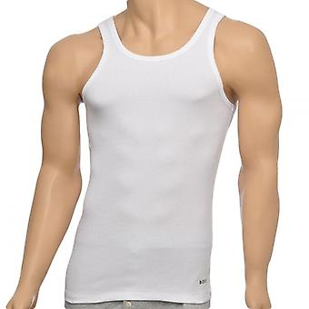 HUGO BOSS Excite Premium Cotton Rib Tank Top, White, Small