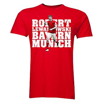 Robert Lewandowski Bayern Munich Player T-Shirt (Red)