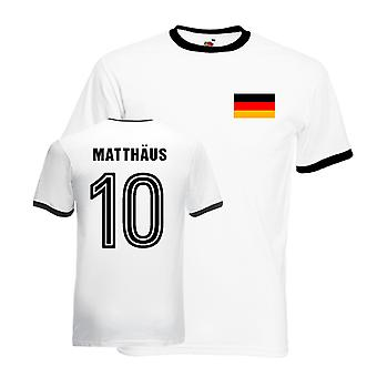 Lothar Matthaus Germany Ringer Tee (white-black)