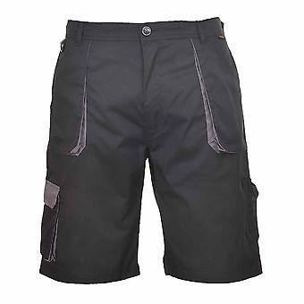 Portwest - Texo Hardwearing Workwear Elasticated Cotton Rich Contrast Shorts