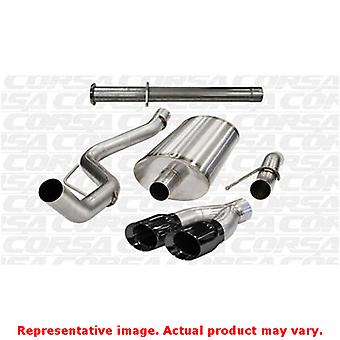 CORSA Performance Cat Back Exhaust 14760BLK Black Fits:FORD 2011 - 2014 F-150 S