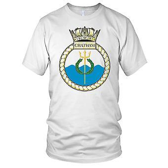 Royal Navy HMS Chatham Mens T Shirt