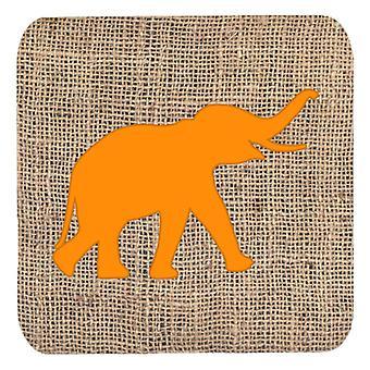 Набор BB1011-BL-OR-ФК сокровища Каролинских 4 слон мешковины и оранжевый пены Co
