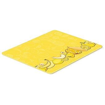 Fruits and Vegetables in Yellow Kitchen or Bath Mat 20x30