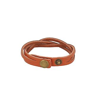 Baxter jewelry London leather bracelet braided whiskey Brown Schmuck snap closure 21.5 cm